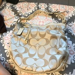 AUTHENTIC Pearl white COACH two tone shoulder bag